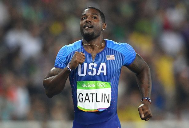 USA's Justin Gatlin competes in the Men's 200m Semifinal
