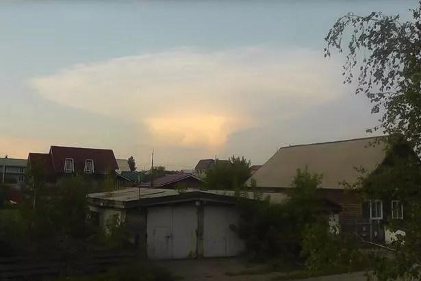 Mushroom cloud over Kemerovo