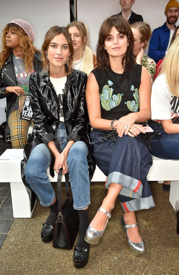 Alexa Chung and Pixie Geldof attend the House of Holland show