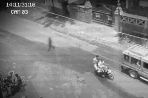 Ghost seen walking across busy main road