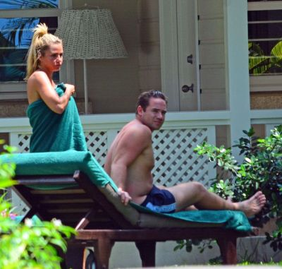 Katie Price and husband Kieran Hayler are spotted on the beach in Barbados