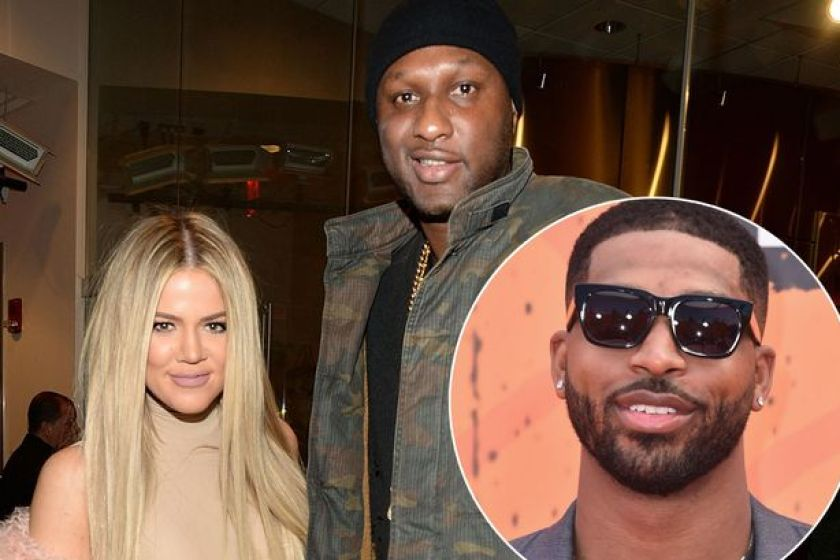 Khloe Kardashian, Tristan Thomspon and Lamar Odom