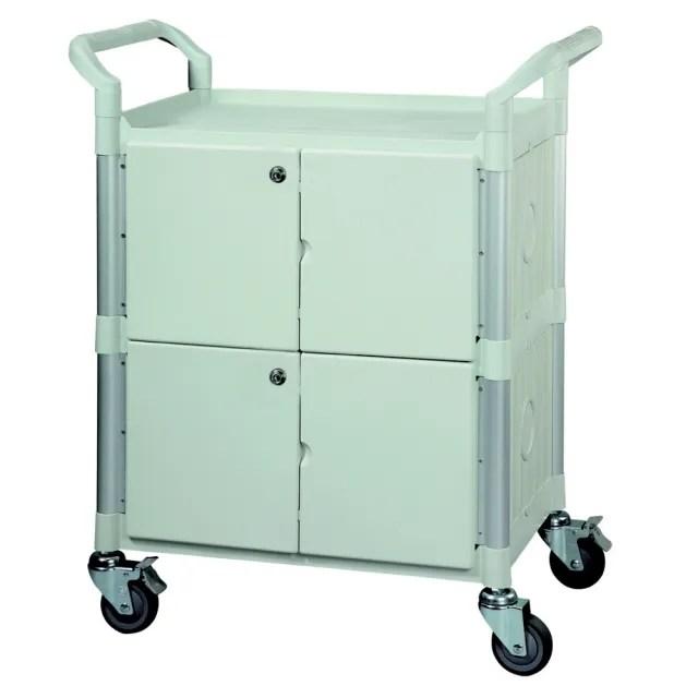 【COLOR】多功能3層圍邊工具/餐推車(附門鎖/高級儀器輪)
