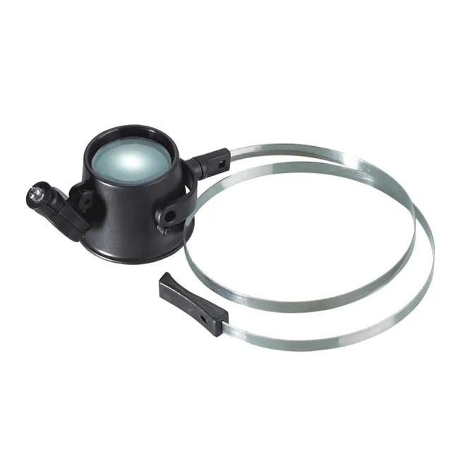 鐘錶維修頭戴式LED單眼放大鏡(MG13B-AZ)