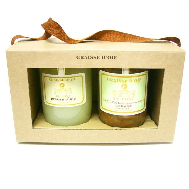 【PEKOE】樂朋LE PONT 黃金鵝油禮盒(鵝油香蔥與鵝香油各1入)