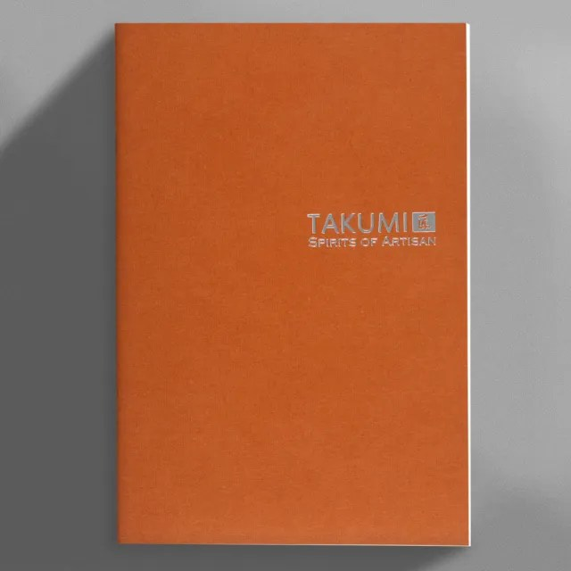 【IWI】TAKUMI匠 和紙筆記本A5銀標-空白內頁-NTSA5-P2S(柿)
