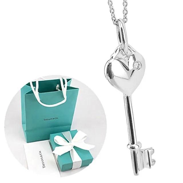 【Tiffany&Co. 蒂芙尼】Keys 真?愛心純銀鑰匙墜飾項鍊