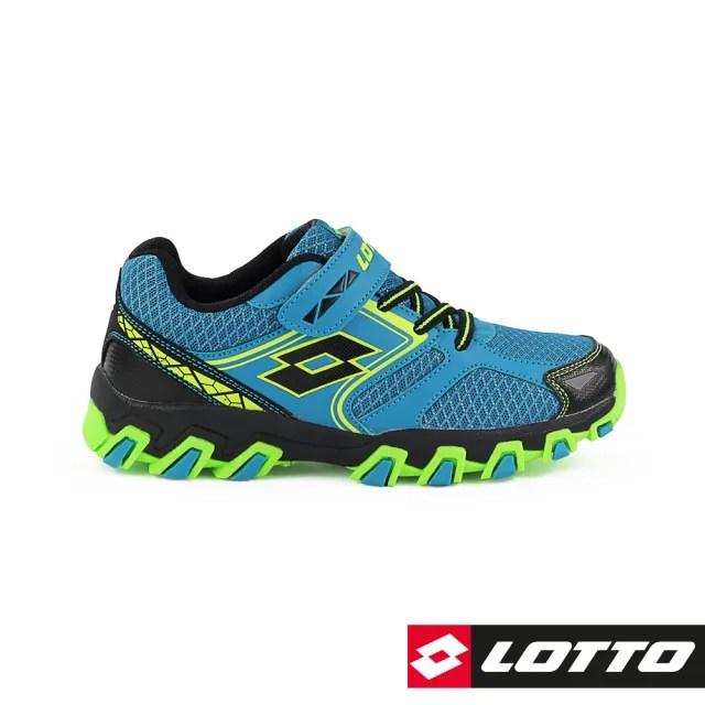 【LOTTO】運動鞋 兒童鞋  冒險王 防潑水越野跑鞋(藍-LT8AKR7036)