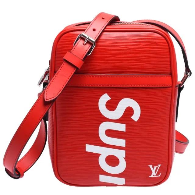 【Louis Vuitton 路易威登】M53417 SUPREME限量聯名款經典EPI牛皮拉鍊肩/斜背包(紅)