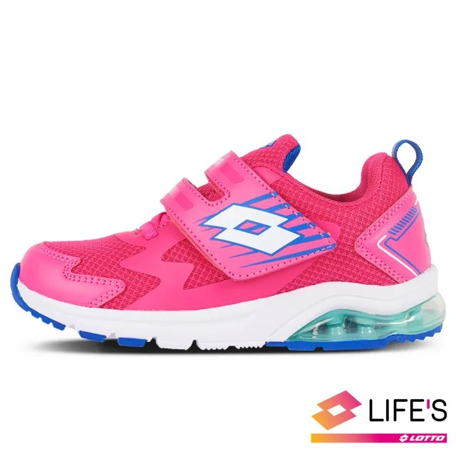 【LOTTO】運動鞋 兒童鞋  FUN RIDE 避震氣墊跑鞋(粉紅-LT0AKR2693)