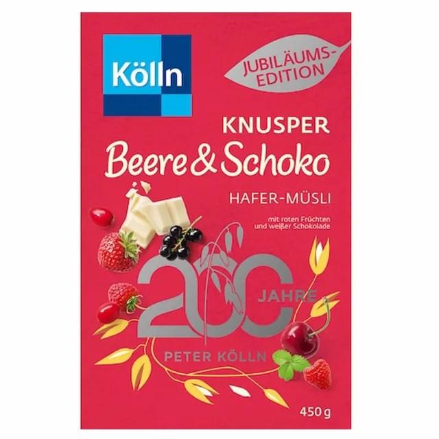 【德國KOLLN 科隆】莓果巧克力燕麥脆穀片450G(燕麥 優格 蜂蜜 早餐麥片)