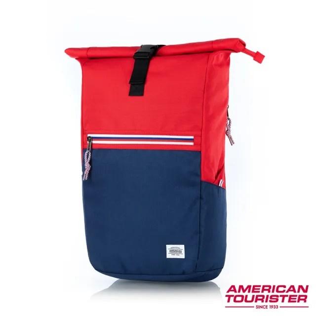 【AT美國旅行者】Trent上捲式開口拉鍊筆電後背包15.6 多色可選(GS9)