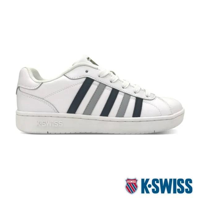 【K-SWISS】時尚運動鞋 Montara-男-白/黑/灰(06922-144)