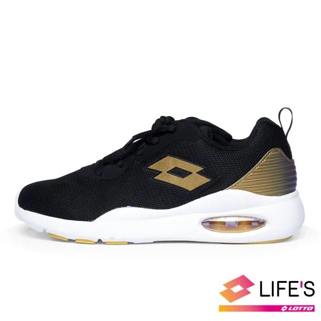 【LOTTO】運動鞋 兒童鞋  DAY RIDE 輕氣墊跑鞋(黑金-LT0AKR2121)