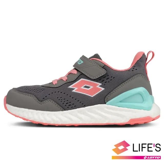 【LOTTO】運動鞋 兒童鞋  速 SPEED 跑鞋(深灰-LT0AKR2638)