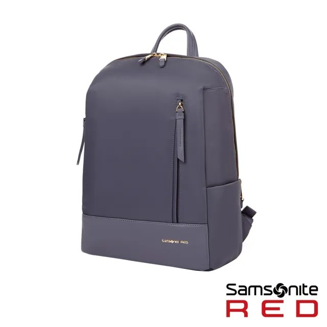【Samsonite RED】SEROL 超輕量尼龍女性筆電後背包13 灰藍(GS8)