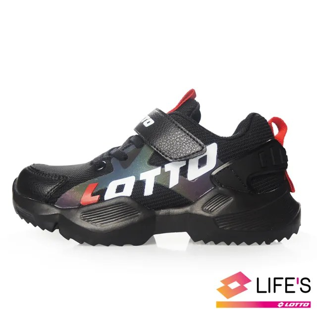 【LOTTO】運動鞋 兒童鞋  EASY RIDE 輕量跑鞋(黑-LT0AKR1790)
