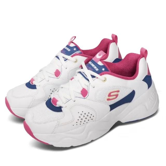 【SKECHERS】休閒鞋 D Lites 2 美少女戰士 女鞋 聯名老爹鞋 月光仙子 月野兔 白 桃紅(66666267WPKB)