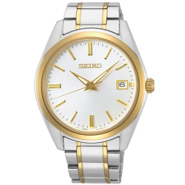 【SEIKO 精工】都會現代大三針時尚男錶-銀x金/39mm(SUR312P1/6N52-00A0KS)