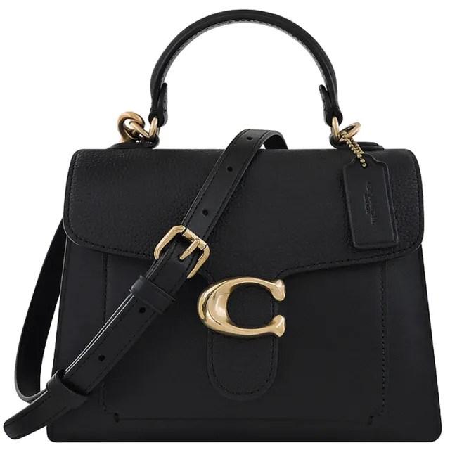 【COACH】專櫃款TABBY 20荔枝紋皮革手提/斜背兩用包-黑色(買就送璀璨水晶觸控筆)