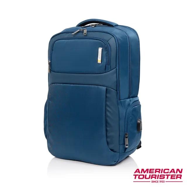 【AT美國旅行者】Segno可拆卸收納袋筆電後背包17吋 多色可選(HD1)
