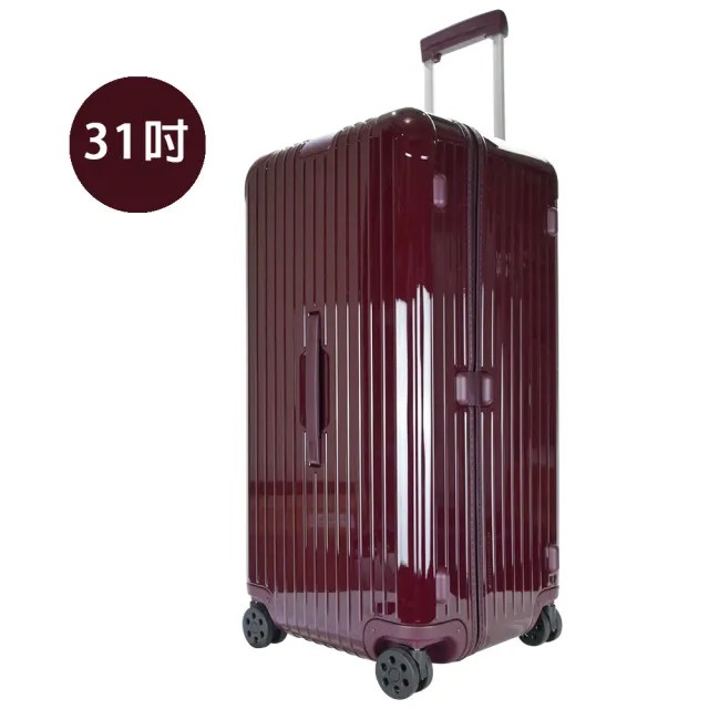 【Rimowa】ESSENTIAL Trunk Plus 31吋大型運動旅行箱(酒紅)