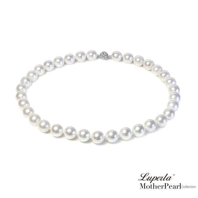 【大東山珠寶】14mm南洋貝寶珠項鍊 白 50CM(硨磲貝珠)
