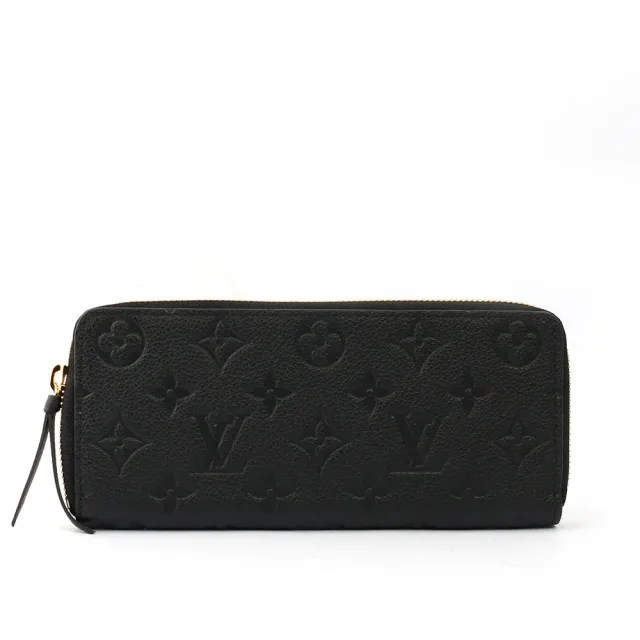 【Louis Vuitton 路易威登】Monogram牛皮壓紋 CLEMENCEㄇ型拉鍊長夾(M60171)