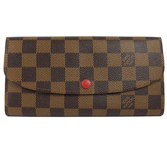 【Louis Vuitton 路易威登】LV N63544 EMILIE 棋盤格紋扣式零錢長夾(現貨)