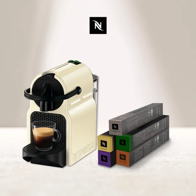 【Nespresso】膠囊咖啡機 Inissia(義式咖啡館50顆組)