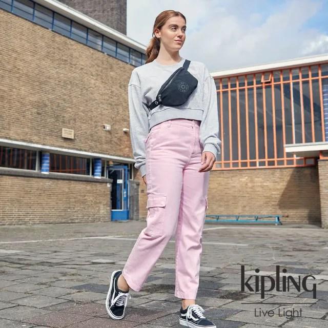 【KIPLING】寧靜深邃黑潮流簡約隨身腰包-FRESH LITE