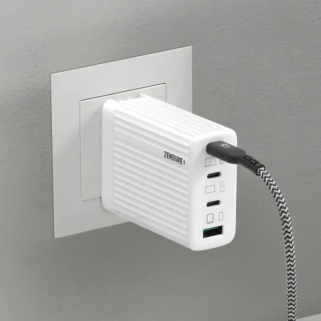 【Zendure】100W GaN typeC/USB SuperPortS4 四孔 PD 快速充電器(充電器)