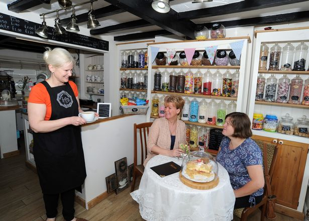 Rona Gibbins serves customers at Sweet Cottage Tea Rooms in Radcliffe-on-Trent