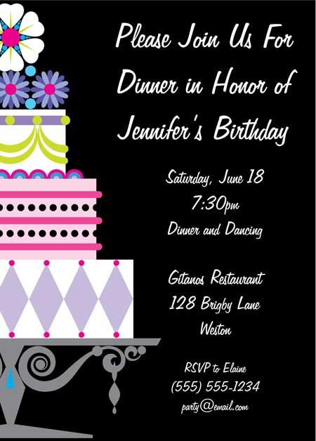 Birthday Invitations Text Message