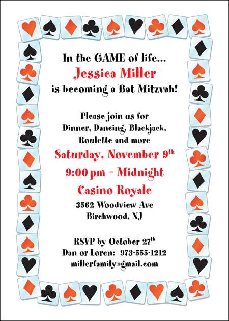 A Casino Party Invitation