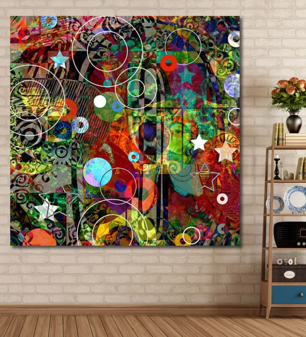 999store Vinyl 60 X 0.4 Graffiti Collage Abstract Painting Unframed Digital Art