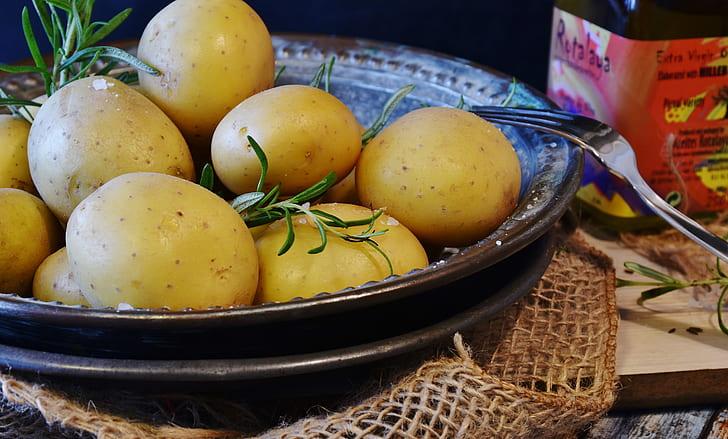 potatoes on platter