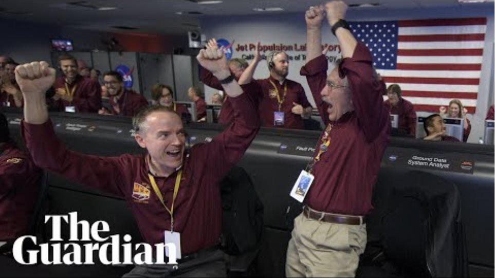 Joy as Nasa probe touches down on Mars