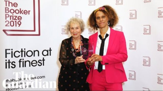 Margaret Atwood and Bernardine Evaristo jointly awarded Booker Prize