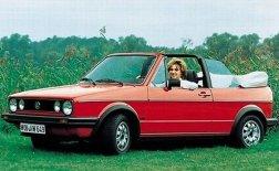 O Golf cabriolet da primeira geração, fabricado entre 1980 e 1983