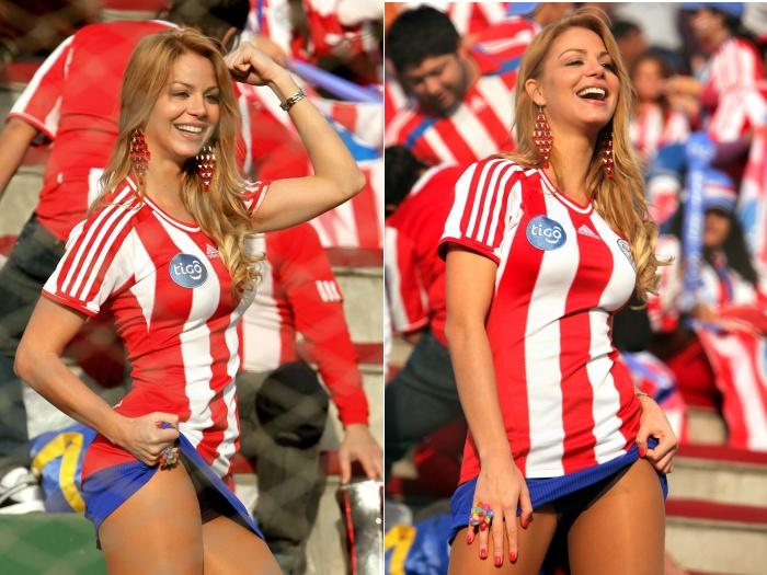 De fato, o Paraguai leva o título de torcida mais bonita