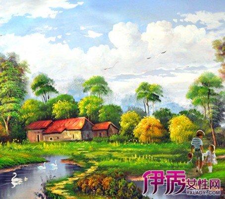 印象派唯美風景油畫圖片欣賞 教你風景油畫的技法 - 壹讀