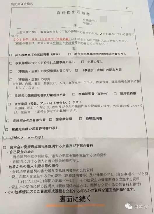 日本「投資經營簽證」被要求追加資料,這張通知單你看得懂嗎? - 壹讀