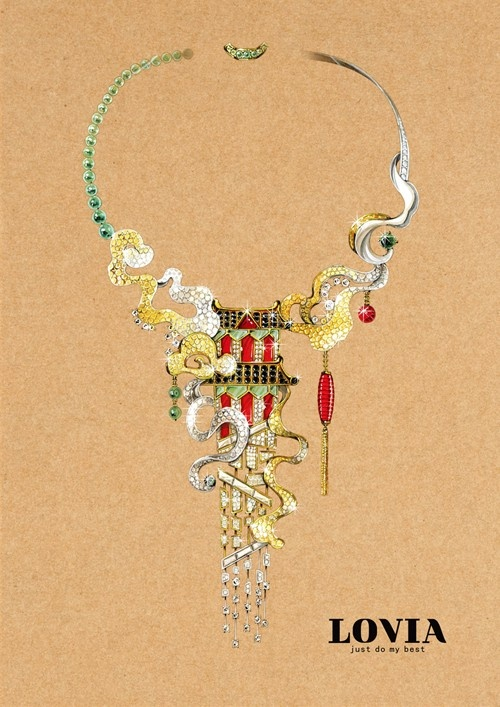 90後珠寶設計師,美出新高度的中國風珠寶手繪概念設計! - 壹讀