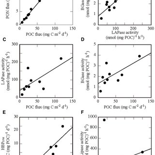 Depth profiles of physical and chemical parameters in the