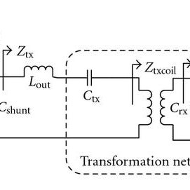 Simplified schematic of wireless power transfer system