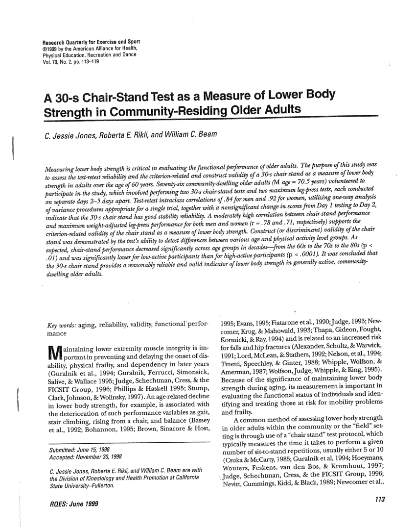 chair stand test measure covers white pdf a 30 s as of lower body strength in community residing older adults