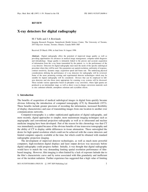 small resolution of  pdf x ray detectors for digital radiography