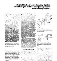 pdf digital radiographic imaging system with multiple slit scanning x ray beam preliminary report [ 850 x 1100 Pixel ]