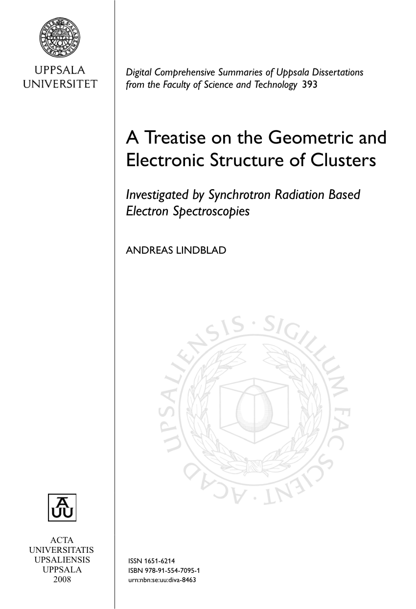 medium resolution of  pdf a treatise on the geometric and electronic structure of clusters investigated by synchrotron radiation based electron spectroscopies